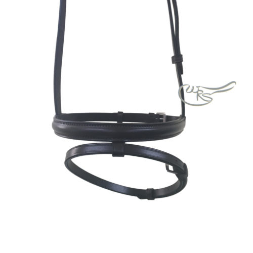 English Leather Lined and Raised Flash Noseband