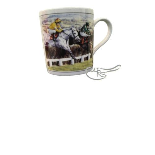 Fine China Jump Racing Mug