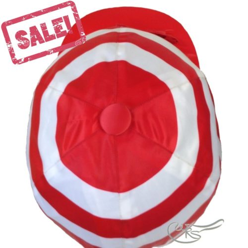 Satin Light Hatcover, Red/White Hoops
