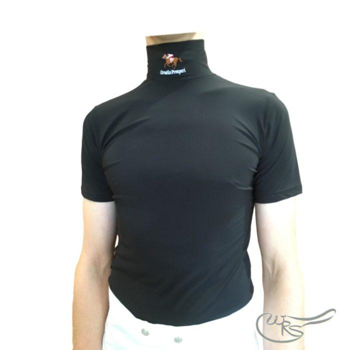 Ornella Prosperi Short Sleeve Lycra Race Shirt, Black