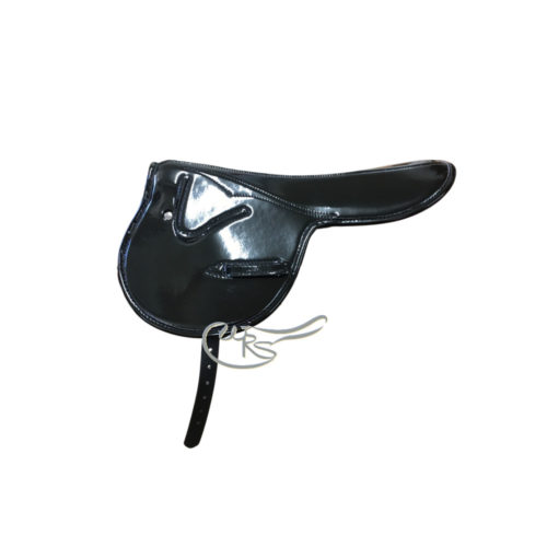 Zilco 500g Patent Race Saddle, Black