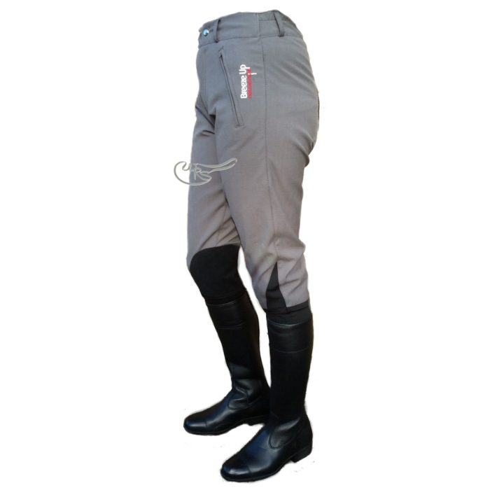 Breeze Up Cotton Breeches, Charcoal/Black