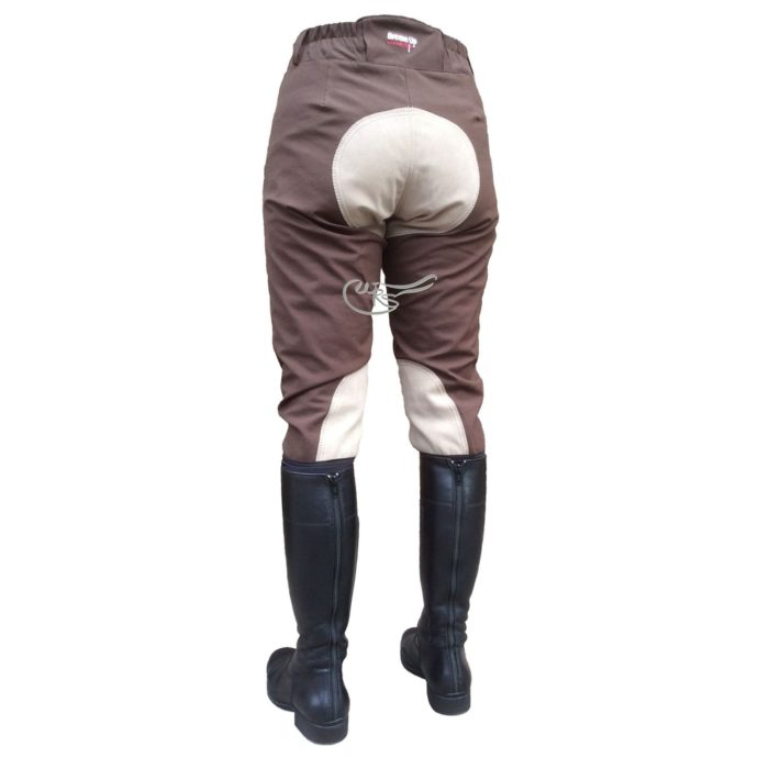 Breeze Up Cotton Breeches, Chocolate/Beige