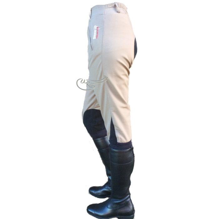 Breeze Up Cotton Breeches, Mouse/Black