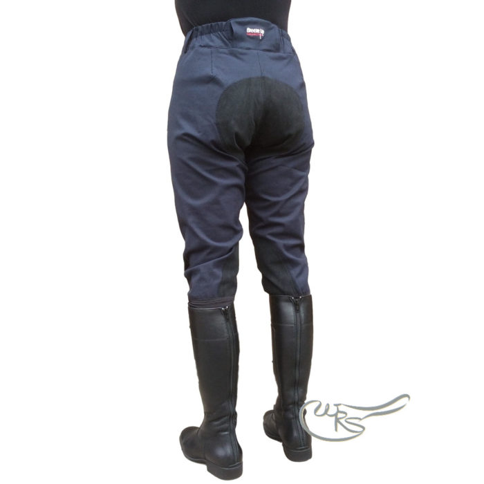 Breeze Up Cotton Breeches, Navy/Black