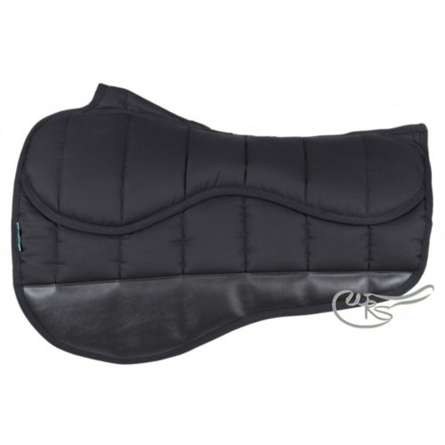 NuuMed HiWither Pro Plus Race Exercise Saddle Pad, Black
