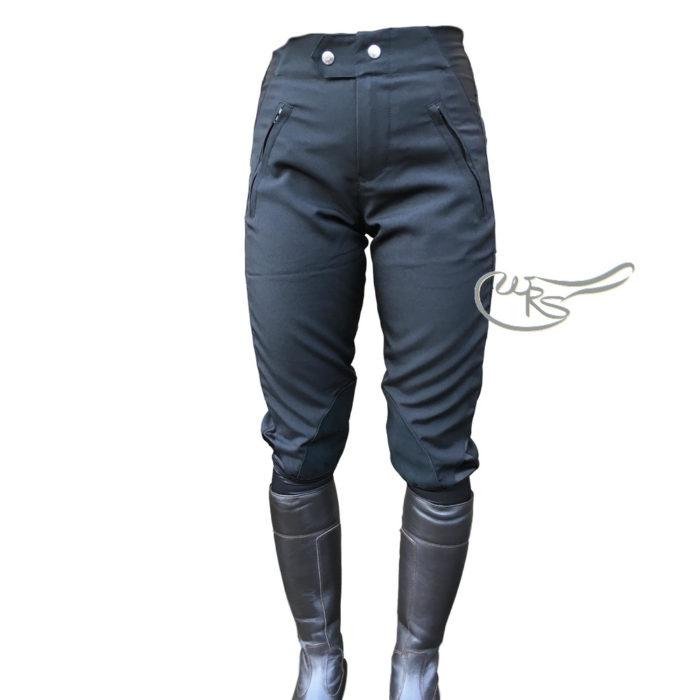 Hyland Cotton Breeches, Black/Black