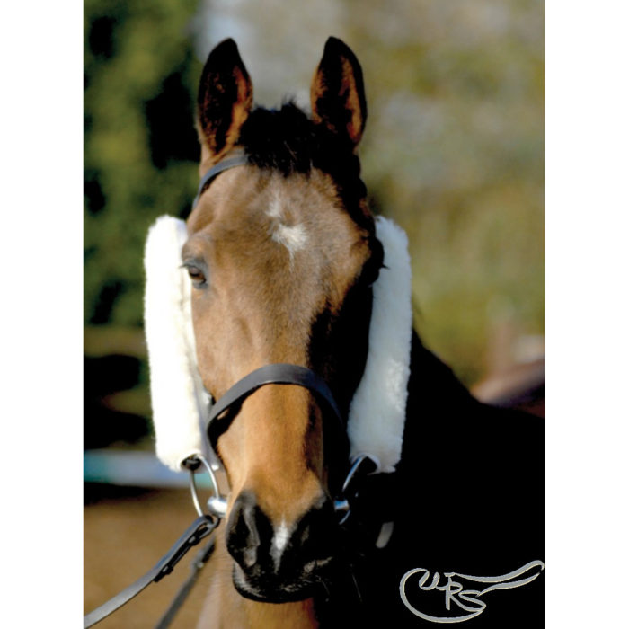 NuuMed Sheepskin French Blinkers, Natural