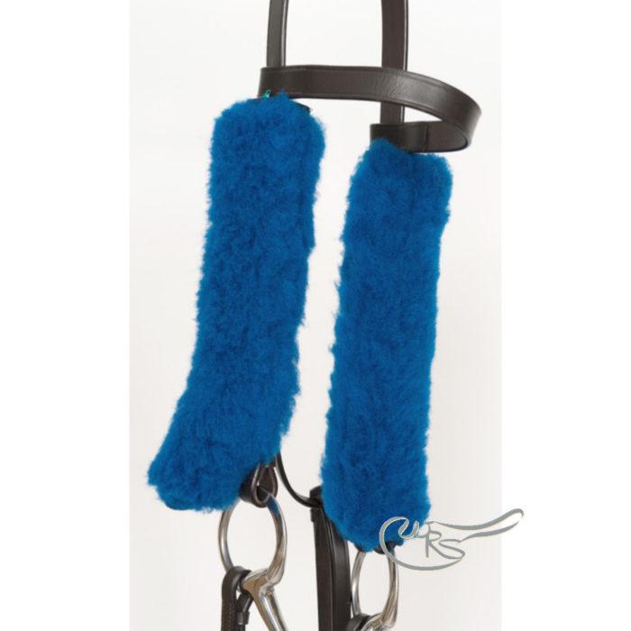 NuuMed Sheepskin French Blinkers, Royal Blue