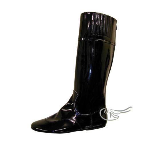 Ornella Prosperi Patent Race Boot, Black