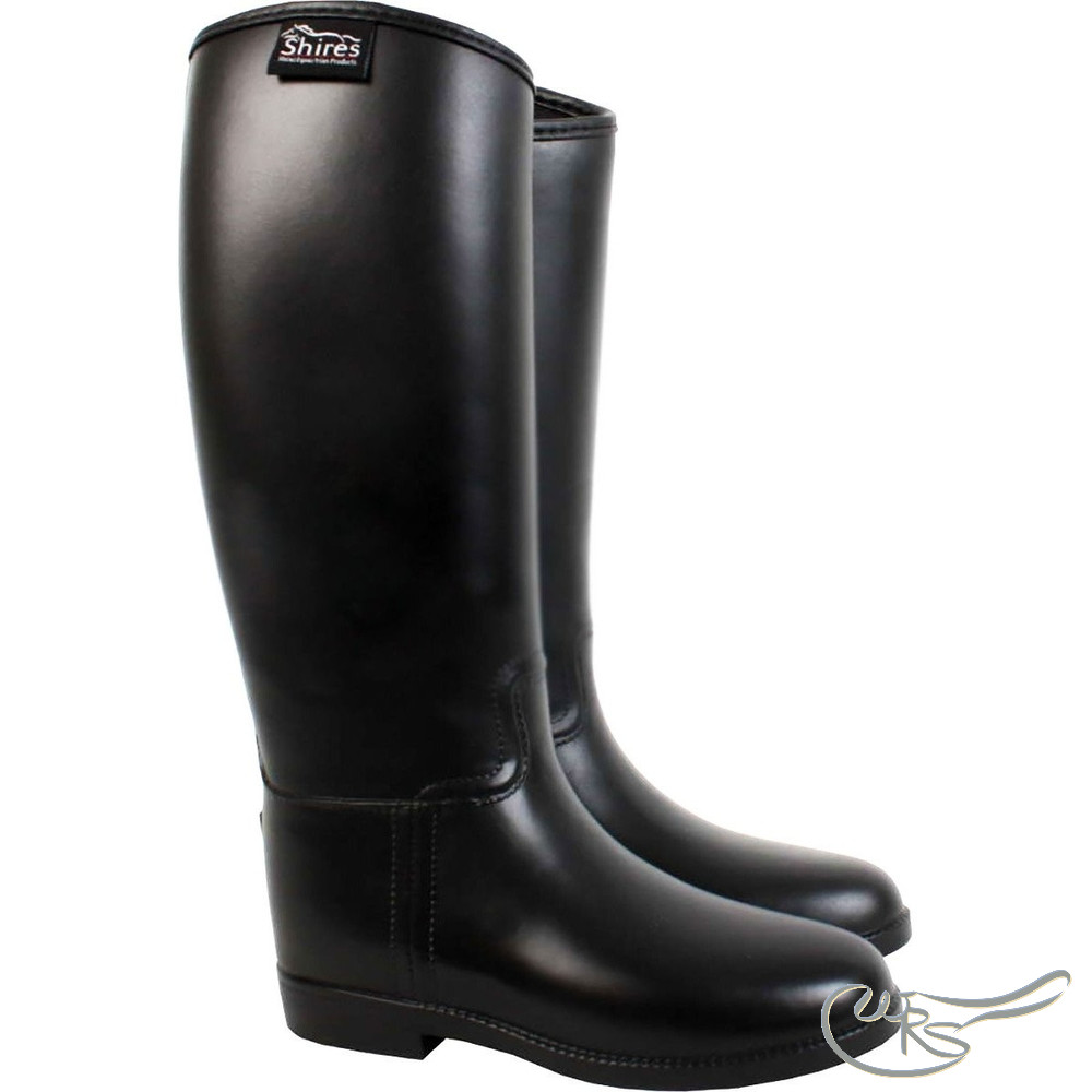Shires Long Rubber Riding Boots | White
