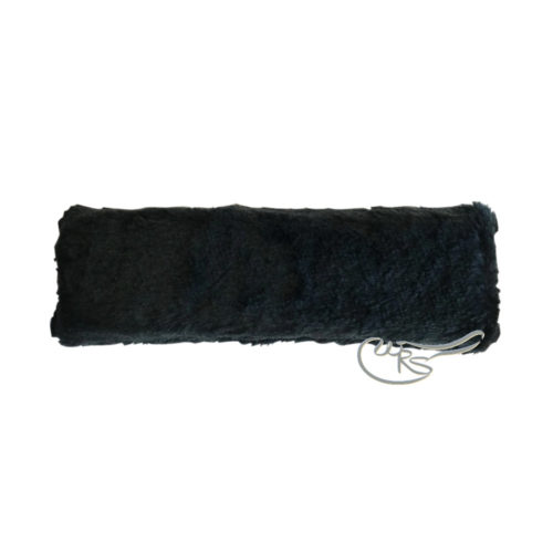Zilco Faux Sheepskin Cheekpiece, Black