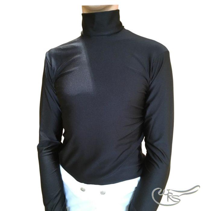 Racesafe Lycra Jockey Polo, Black
