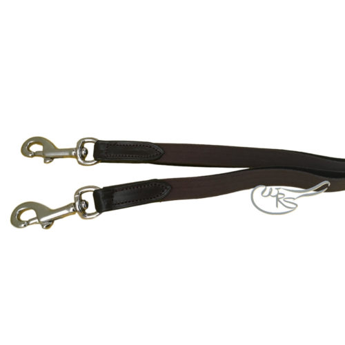 English Leather Side Reins with Elastic Inserts