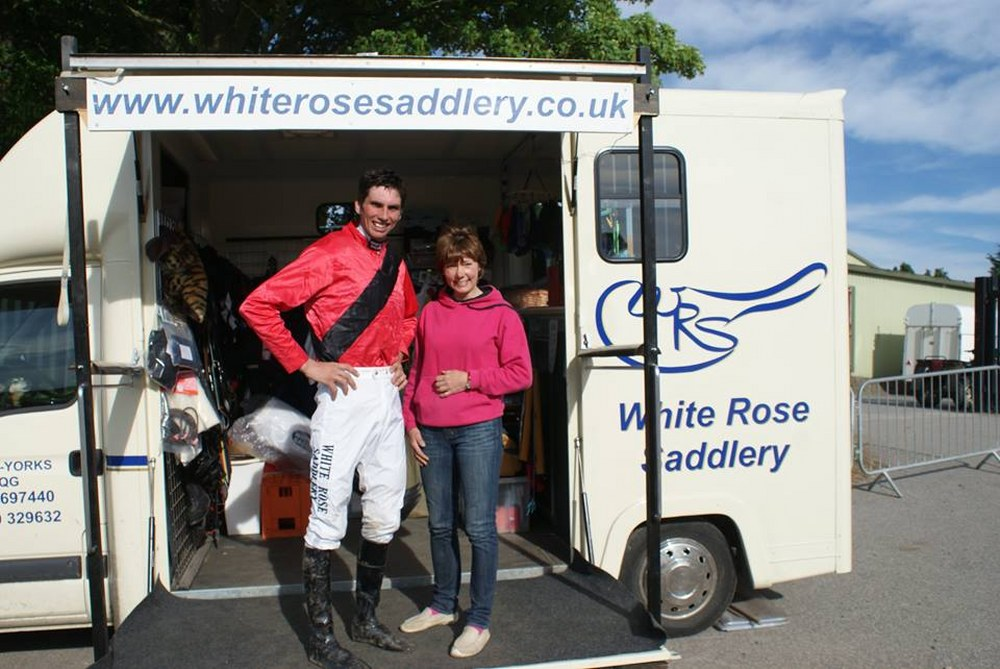 Wendy and Chris Dawson at Mordon Point to Point