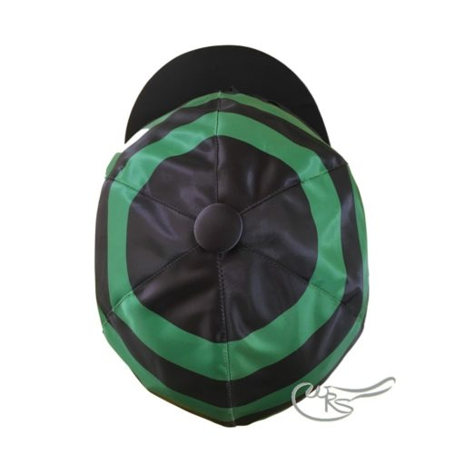 WRS Satin Light Hatcover with ties for Racing, Black Green Hoops