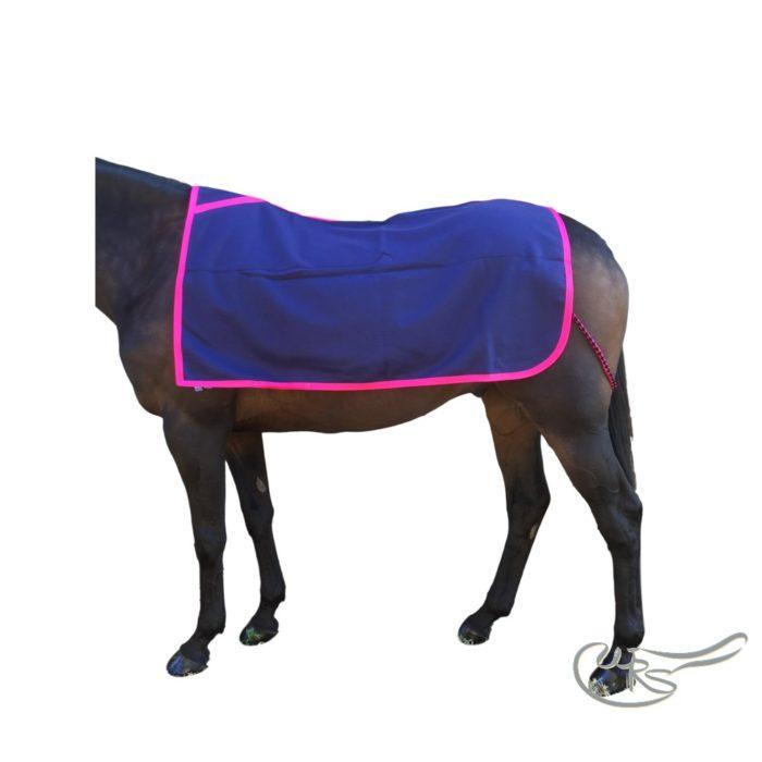 WRS Melton Wool Paddock Sheet, Navy Blue/Pink