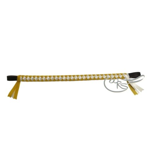 Velvet Browband, Yellow/White